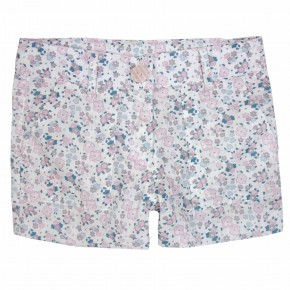 Girls Pink Floral Liberty Print Shorts