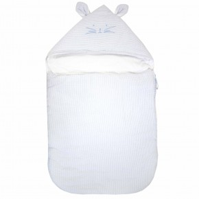 Blue Baby Boy Carry nest with rabbits feature.