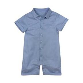 Barboteuse garçon coton jacquard bleue