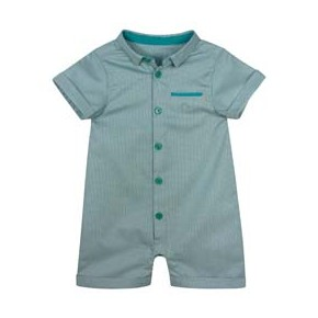 Jacquard Green Baby boy Rompersuit
