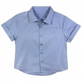 Chemise garçon coton jacquard bleue