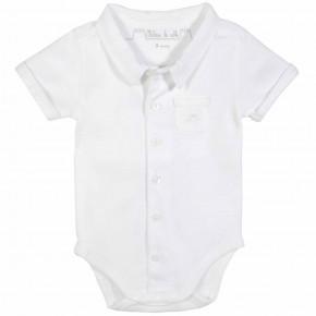 Baby Boy White Bodysuit