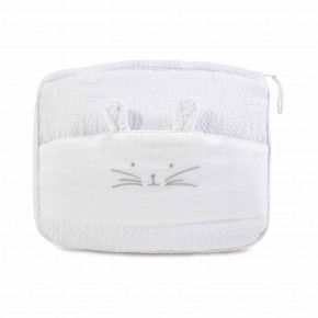 White Bath pouch with Rabbit Features