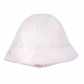 Chapeau blanc bébé fille