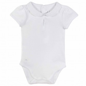 Baby Girl White Bodysuit