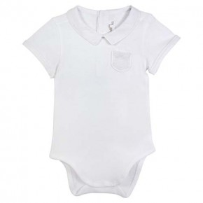 Baby boy white bodysuit