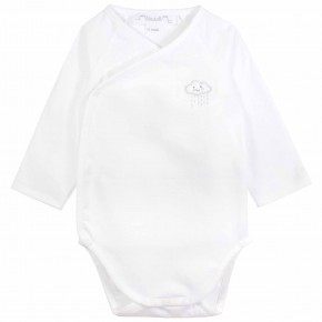 Unisex wrap long sleeves baby bodysuit