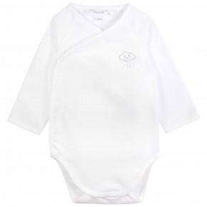 Unisex wrap long sleeves baby bodysuit