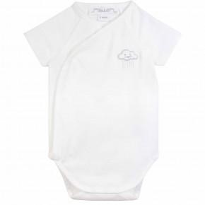 Unisex wrap short sleeves baby bodysuit
