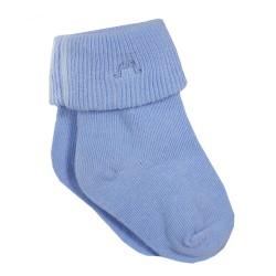 Light Blue Roll Cuff Socks