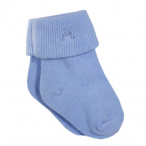Light Blue Roll Cuff Socks