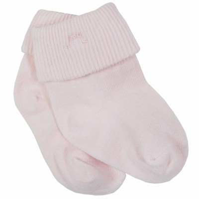 Light Pink Roll Cuff Socks