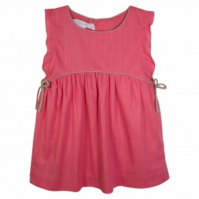 Coral dress with knots