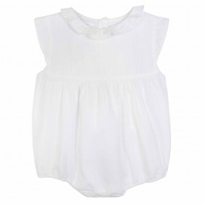 White Baby girl rompersuit