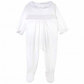 Baby Girls White Pyjamas