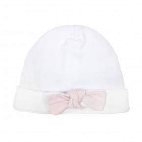 Baby Girl Pink Beanies with knot