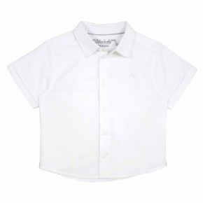 Boys White Short sleeves shirt