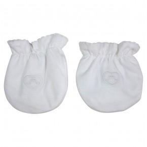 Vanya White baby mittens