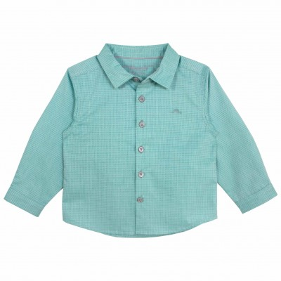 Boys green long sleeve shirt