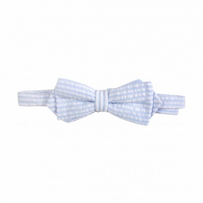 Blue stipes Bow Tie