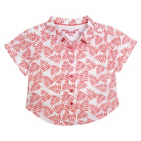 Boys shirt with Palm leaves prints