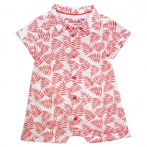 Baby boy rompersuits with palm leaves prints