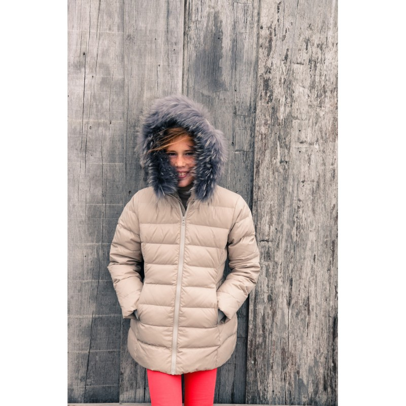 b62174434 Girl Taupe Downcoat