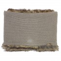 Girl Taupe Neck Scarf