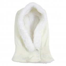 White Unisex Hood with Fleece