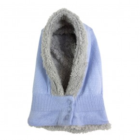 Boys Blue Hood with Fleece