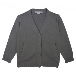 Basic Boy V Collar Grey Cardigan