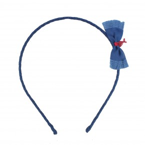 Navy hairband with Bow