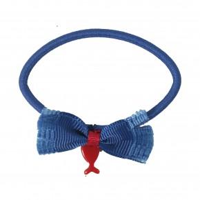 Elastique bleu marine avec noeud