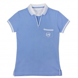 Girl Secondary Blue Polo