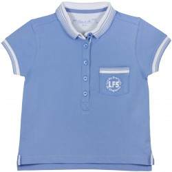Girl Elementary Blue Polo