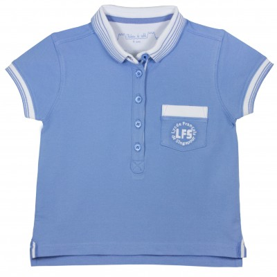 Girl Kindergarden Blue Polo