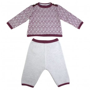 Jacquard Baby Knitted Set