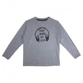 T-Shirt garçon imprimé casque audio