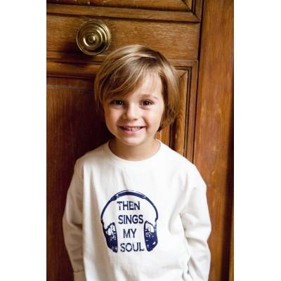Boys Blue Tshirt With Rabbit Print