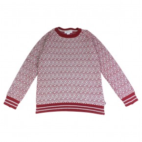 Boy Burgundy Jacquard Sweater