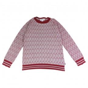 Boy Burgundy Jacquard Sweater