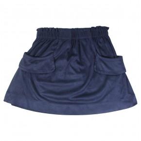 Skirt in Nubuck Effect