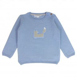 Boy Sweater with a Fox Embroidered