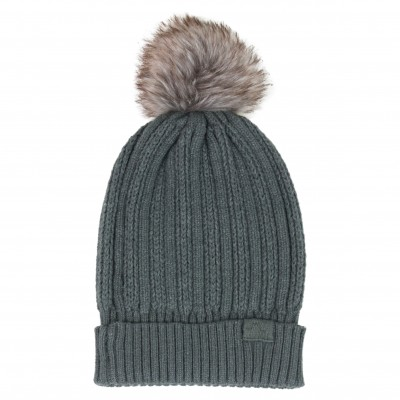 Unisex Beanie with Fur Pom-pom
