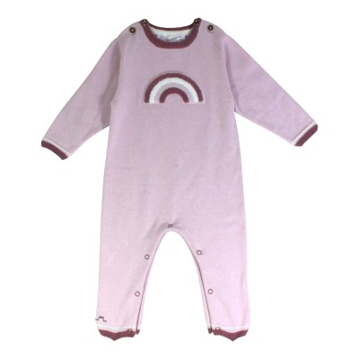 Baby Romper with A Rainbow in Pink
