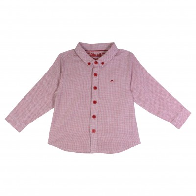 Boy Shirt with Houndstooth Prints
