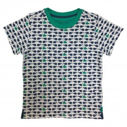 Boy t-shirt with fish and submarines prints