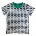 Fish & Submarine print T-shirt