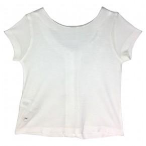 T-shirt blanc avec boutons à l'arrière