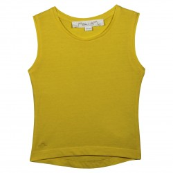 Yellow sleevesless t-shirt